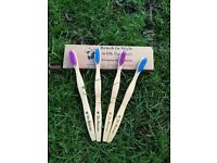Bamboo Toothbrush - SOFT 4 PACK - Prevent Gum Bleeding and Gum Recession