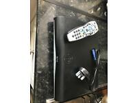 Sky hd box with cable and remote