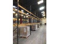 job lot 100 bays of link pallet racking ( storage , industrial shelving )