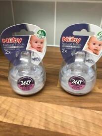 Nuby 6+ months bottle teats