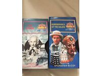 Doctor a Who vhs videos