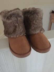 Next fur trim boots