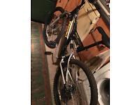 Full disc brakes and full suspension mountain bike