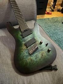 Cort KX500 7 String Fan Fret Guitar EMG