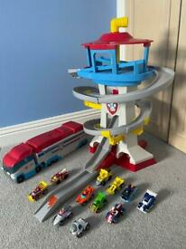 Paw Patrol Tower and Launcher Plus 11 Vehicles