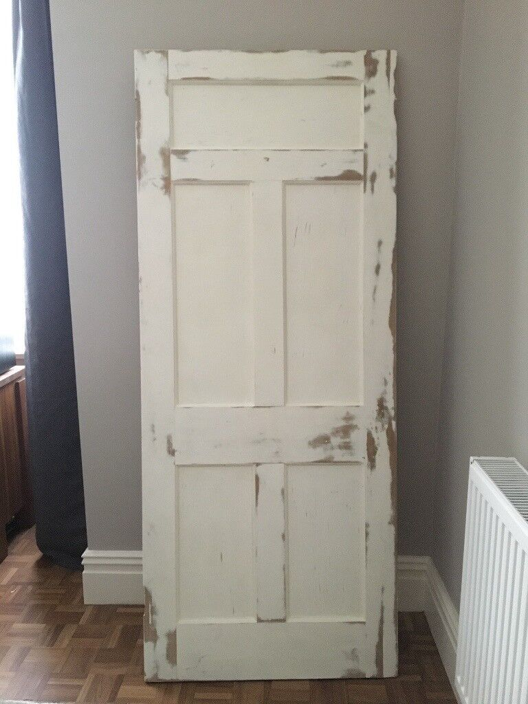 Period Victorian Edwardian 5 Panel Internal Door In