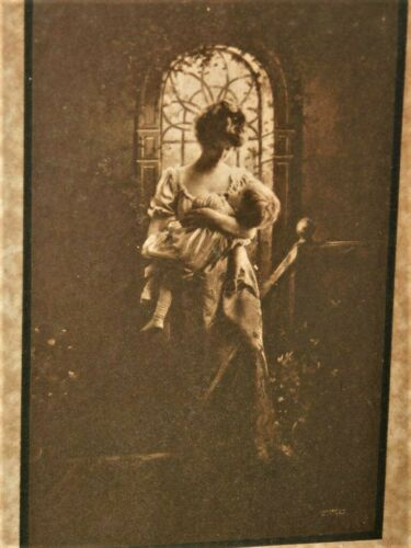 """VICTORIAN Mother & Baby Photo w/ POEM """"Baby"""
