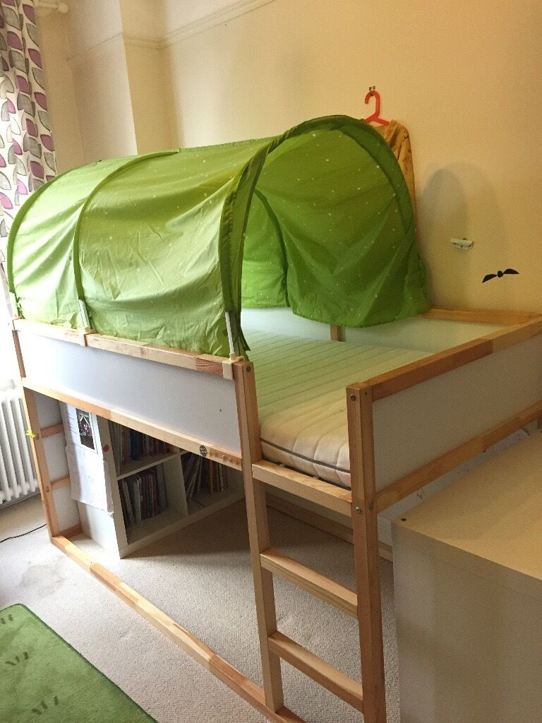 Home images ikea kura bed ikea kura bed facebook twitter google - Ikea Kura Top Bunk Bed Reversible 200x90cm Perfect As A Kids Bunk
