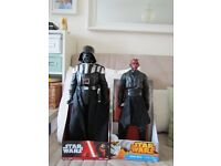 Star Wars Darth Vader and Darth Maul giant figures