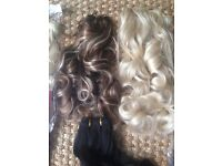 10 packs of brand new synthetic hair extensions