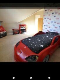 Step 2 Corvette Car Bed and full storage set