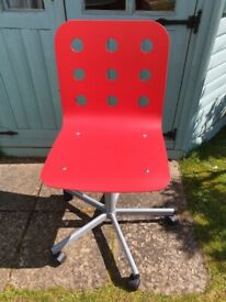 Red Ikea Jules Adjustable Desk Chair