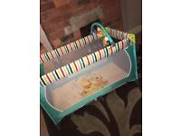 Winnie the Pooh travel cot