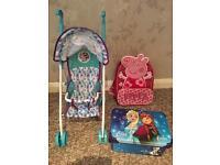 Disney Frozen Stroller, Storage Box & Peppa Pig Backpack