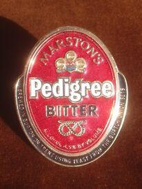 Brass Beer Pump Badge