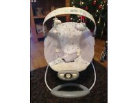 Musical baby bouncer