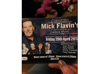 Mick flavin 30th anniversary tickets