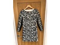 Black and White Reiss Dress Size 12