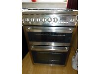Hotpoint dual fuel cooker stainless steel - 60cm