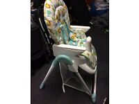 Mothercare Frooty Foldable Jungle High Chair