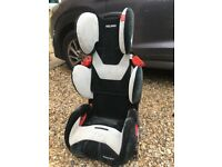 Recaro Child's Group 1-3 Car Seat (RRP £125 New) with removable base for booster seat