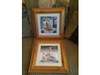 2 x Disney Winnie the Pooh Wall Pictures. 16 3/4 inch Height x 16 1/2 inch Width.