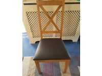 4 Pine Dining Room Chairs