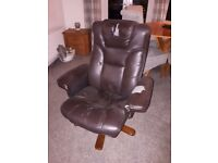 Free Faux leather recliner for man cave
