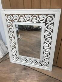Beautiful Carved Wooden Framed Mirror