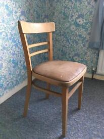 Wooden dining chair. Upcycle project