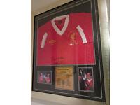 Liverpool Signed Framed Shirt Alan Kennedy