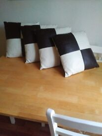 Four Leather Cushions