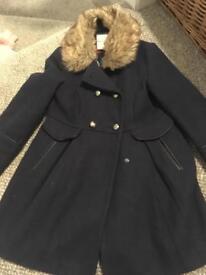 Girls navy coat age 7 - Jasper Conran