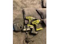 Ryobi +1 range 2 drills and impact
