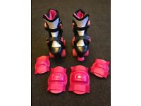 Roller Skates with Knee & Elbow Pads