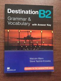 Destination B2-grammar and vocabulary, brand new