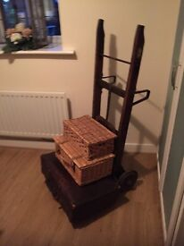 Beautiful old Railway Baggage Trolley Beautiful Condition made by Slingby
