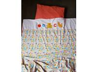 Nursery bedding and curtains