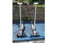 x2 iscooT Pro 3 wheeled Aluminium Scooters