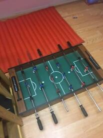 Larger mini soccer table without ball and legs
