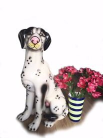 70CM Feng Shui Ornaments Dalmatians Lucky Ceramic Arts and Crafts Living Room Keeping Home Safe