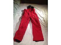 Ski set- red GORE-TEX salopette & navy/red GORE-TEX jacket- size 140-146cm
