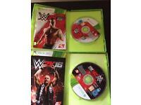 WWE 2k15 & WWE 2k16 XBOX 360