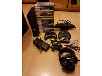 Xbox 360 with 23 games plus accessories