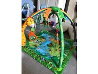 Play mat and electric swing