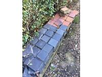 Victorian ceramic path tiles - 330 approx.