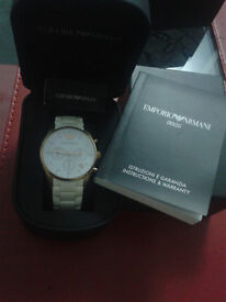 EMPORIO ARMANI WATCH (AR5920 -WHITE)
