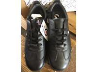 Lambretta Memory Foam Lace Retro Trainers Black Size 8 Bnib