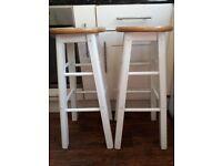 Pair of tall kitchen bar stools