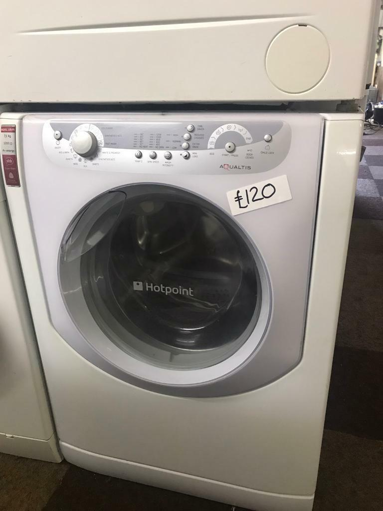 7.5 KG HOTPOINT AQUALTIS WASHING MACHINE - NICE CONDITION WITH GUARANTEE
